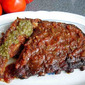 Chipotle Grilled Ribs with Citrus Pepper Salsa