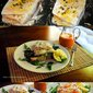 Open Faced Cod Sandwiches with Red Pepper Sauce