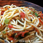 Spaghetti with vegetable sauce