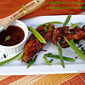 Grilled Chicken Wings with Mango, Guava Soy Reduction Sauce