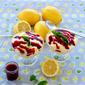 Lemon Soufflé with a Sweet Cherry Sauce