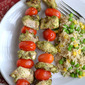 Caprese Chicken Kabobs