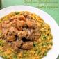 Grilled Shrimp & Monkfish Boullabaisse Over Risotto Milanese