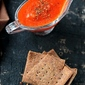 Recipes   Healthy Flax Seed Crackers and Red Bell Pepper Dip – Letting Your Life Speak