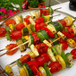 Grilled Veggie Skewers with Balsamic Lemon Drizzle