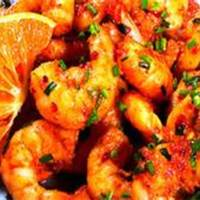 Monster Shrimp With Orange Chili Sauce