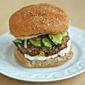 Asian pork burgers with quick pickled cucumbers