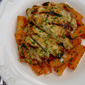 Grilled Pesto Chicken with Tomato Cream Pasta