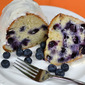 Blueberry Cake with Sour Cream Icing