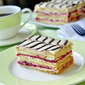 Raspberry Buttercream Mille Feuille