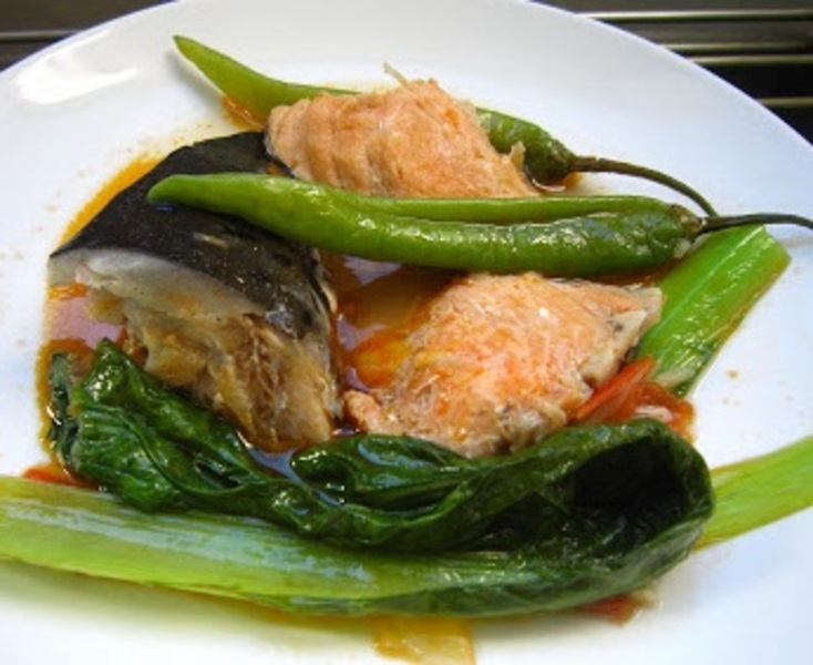 Sinigang Na Salmon Head Sa Miso Recipe By Shalina Cookeatshare