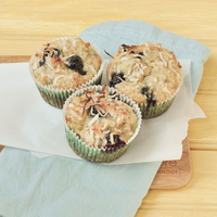 Banana Coconut Blueberry Muffins (dairy-free)