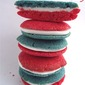 Red White and Blue Sandwich Cookies