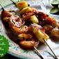 Grilled Margarita Cilantro Shrimp {Gourmet Garden}