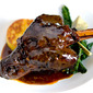 Lamb shanks roasted in port and red wine