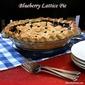 Blueberry Lattice Pie