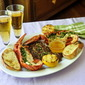 Grilled Herb Lobster Surf n Turf with Lemon Garlic Brown Butter