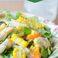 Salad Sundays: Chicken and Grilled Corn Salad with Greek Yogurt Vinaigrette