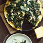 Polenta Pizza with Spinach, Mushrooms & Ricotta