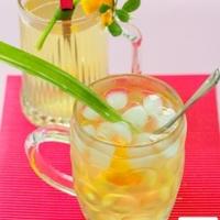 Pandan (Screwpine) Limau Kasturi (Calamansi) Drink