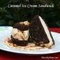 Brownie Ice Cream Sandwich Cookies with Caramel Ice Cream