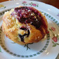 Fresh Blueberry Muffins with Easy Blueberry Jam and a Tangerine Sugar Topping