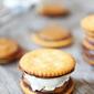 Ritz Cracker Chocolate Peanut Butter Ice Cream Sandwiches