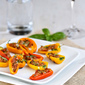 Mini Grilled Stuffed Peppers Recipe with Sausage & Basil