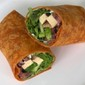 Baked Tofu, Arugula, and Olive Wraps