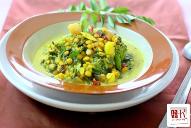 Keerai Kootu (Spinach Dhal Curry)