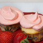 Strawberries & Cream Filled Cupcakes
