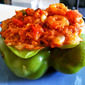 Shrimp Stuffed Bell Peppers + French Rockin' Boogie