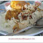Coconut rice with chicken gravy and pickled baby radish recipe
