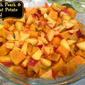 Fresh Peach and Sweet Potato Salad ( GF)