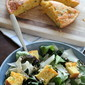 Green Salad with Jalapeno Cheddar Cornbread
