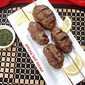 Ground Beef Kebabs with Mint & Cilantro Chutney