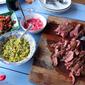 Tacos: BBQ Onglet with Scotch Bonnet, Grapefruit & Mango
