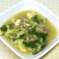 Yanka's Ukrainian Meatball-Spinach Soup