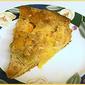 Peach Polka Dot Caramel Cake