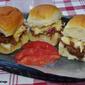 BBQ Pork Sliders with Peach-Ginger Slaw