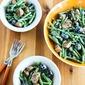 Green Bean Summer Salad with Italian Sausage, Olives, and Basil Vinaigrette