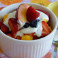Fresh Fruit Bowls with Vanilla Yogurt Dressing