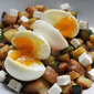 Zucchini Hash With Soft-Cooked Eggs