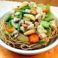 Fried Noodles with Veggie Toppings
