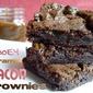 Gooey Caramel Bacon Brownies