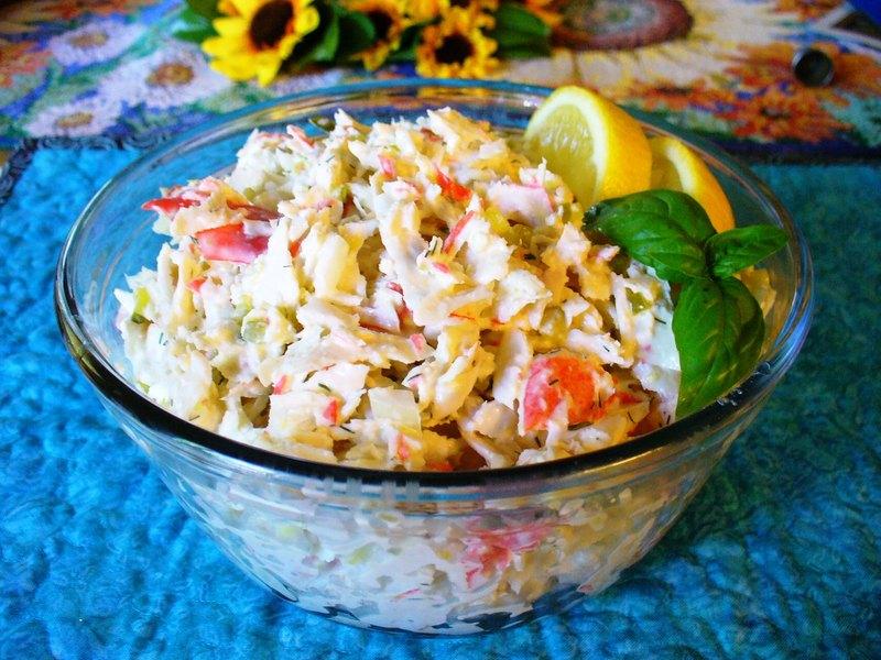 Deli Style Imitation Crab Seafood Salad Recipe By Lynne Cookeatshare