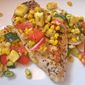 Pan-Grilled Chicken Breasts with Corn-and-Tomato Relish
