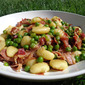 Potato Gnocchi with Peas and Prosciutto