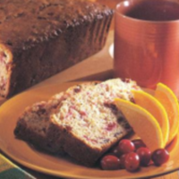 Triple Cranberry-Walnut Quick Bread