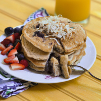 Coconut Milk Blueberry Pancakes